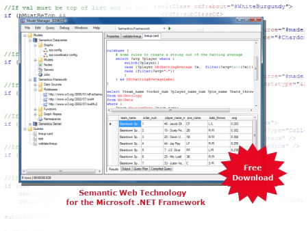 Semantic Web Technology for the Microsoft .NET Framework (C#)